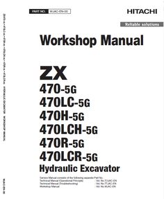 Hitachi ZX350LC-5B and ZX350LCN-5B ZAXIS Excavator Manual