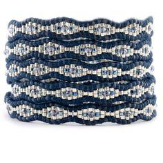 Chan Luu - Blue Mix Wrap Bracelet on Natural Dark Blue Leather, $180.00 (http://www.chanluu.com/wrap-bracelets/blue-mix-wrap-bracelet-on-natural-dark-blue-leather/)