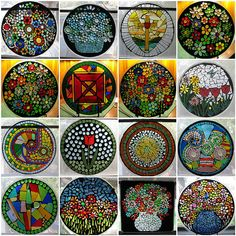 Elsieland Mosaics turns microwave turntables into Suncatchers.