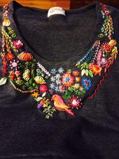 Bordado embroidery colores bird