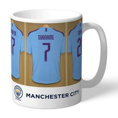 One of our best-selling Manchester City FC gifts of all time, this personalised dressing room mug is the ultimate must-have for any Manchester City FC fan. Fully licensed and approved by Manchester City FC themselves, you can be assured of quality. Dressing Room Design, Gifts For Sports Fans, Valentines Day Gifts For Him, Manchester City, Best Gifts, Ceramics, Mugs, Shopping, Collections