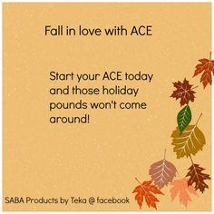SABA ACE is a natural diet and energy supplement... find me on facebook for more details.....