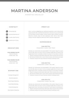 Resume Template with Matching Cover Letter and References Page. Professional Resume Template for Word. Creative Cv Template, One Page Resume Template, Modern Resume Template, Resume References, References Page, Cover Letter For Resume, Cover Letter Template, Reference Page For Resume, Blogging