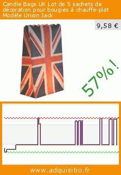 Candle Bags UK Lot de 5 sachets de décoration pour bougies à chauffe-plat Modèle Union Jack (Jardin). Réduction de 57%! Prix actuel 9,58 €, l'ancien prix était de 22,44 €. https://www.adquisitio.fr/candle-bags-uk/lot-5-sachets-d%C3%A9coration-0