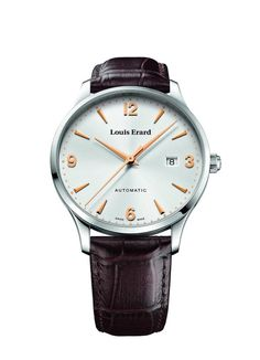 Louis Erard 1931 Collection Swiss Automatic Silver Dial Men's Watch Top men watches An everyday timepiece, you can wear it on a daily basis and this one fits wrist perfectly. Top Watches For Men, Luxury Watches For Men, Cool Watches, Louis Erard, Dream Watches, Seiko Watches, Beautiful Watches, Automatic Watch, Watch Brands
