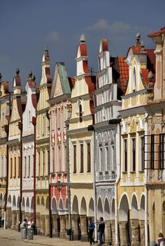 historic house facades, Prague