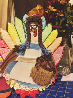 Turkey in disguise.  School project. Dorothy from wizard of oz.