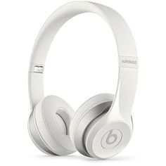 Beats by Dr. Dre Solo2 Wireless Headphones ($300) ❤ liked on Polyvore featuring white and beats by dr. dre