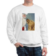 10ede9a31c0fa Golden Kiss For Santa Sweatshirt Fleece Hoodie, Crew Neck Sweatshirt,  Graphic Sweatshirt, Ugly