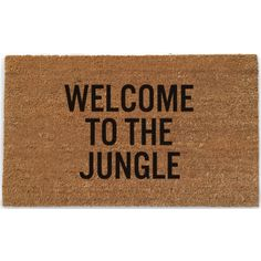 """Welcome To The Jungle"" Doormat - Waiting On Martha"