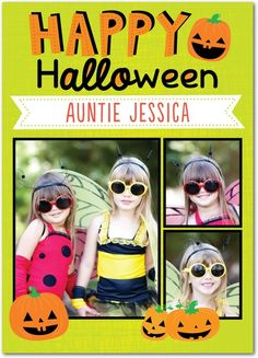 Cheery Pumpkins - Halloween Cards from Treat.com #trickorTREAT