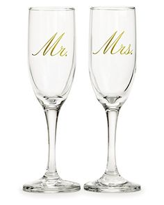Mr  Mrs Champagne flutes toasting glasses great for wedding gift by Nicole Jean * Want to know more, click on the image.-It is an affiliate link to Amazon. #WeddingGift