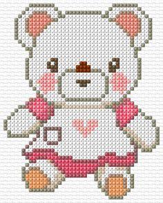Cross Stitch | Teddy Girl xstitch Chart | Design