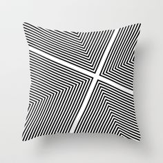 Square lines Throw Pillow