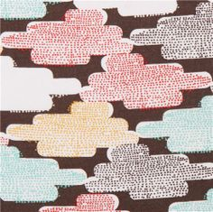 Cloudspotting colorful clouds Cloud 9 retro organic fabric