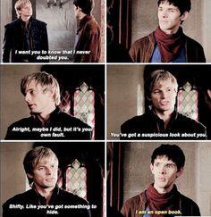 I'm just like Merlin, an open book, with just a few secrets that I keep hidden Merlin Funny, Merlin Memes, Merlin Serie, Merlin Fandom, Merlin Colin Morgan, Nerd, Merlin And Arthur, Bradley James, Open Book