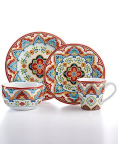 222 Fifth El Centro 16-Piece Set - Casual Dinnerware - Dining & Entertaining - Macy's