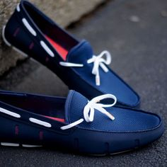 Fancy - Navy Lace Loafers by SWIMS