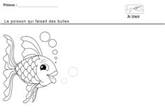 graphisme le rond le poisson qui fait des bulles