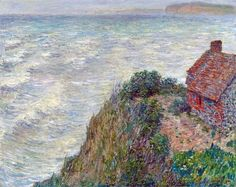 """""""Fisherman's House in Petit-Ailly"""" (1882) by Claude Monet"""