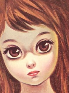 big eye girls art | Big Eye (Eyed) Girl: Vintage Art