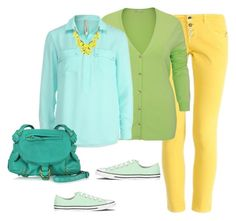 """""""Bright outfit for warm spring color type"""" by olga-kim-b on Polyvore featuring Converse, Jérôme Dreyfuss, Spring, casual, brightoutfit and warmspring"""