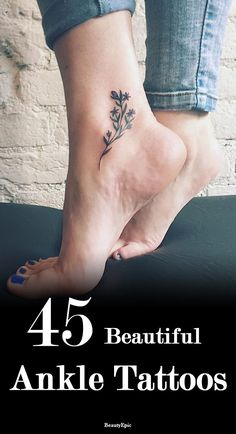 45 Beautiful Ankle Tattoos and Their Meanings You May Love to Try! Tattoos And Body Art ankle tattoos Butterfly Ankle Tattoos, Cute Ankle Tattoos, Ankle Tattoos For Women, Ankle Tattoo Small, Small Tattoos For Guys, Mom Tattoos, Feather Tattoos, Cute Tattoos, Body Art Tattoos