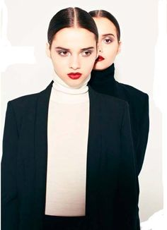 The Bloom Twins by Jonathan Hallam for InStyle UK