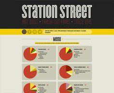 Station Street - brilliant way to show a menu, breakdown of ingredients.