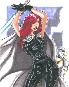 Mara Jade, in JonPeelman's Star Wars Comic Art Gallery Room