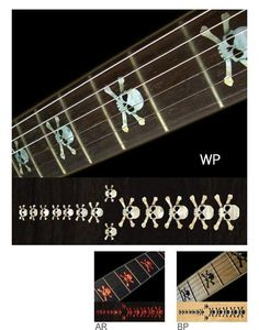 Skull Fret Markers Inlay Stickers Decals Guitar Bass