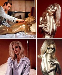 Shirley Eaton, Bond Girl. Eaton played the role of Jill Masterson in the 1964 James Bond film Goldfinger. Her claim to fame was her on-screen demise, considered by movie pundits to be one of the top ten film deaths. The crucial scene features Eaton sprawled nude on a bed, her body completely covered in gold