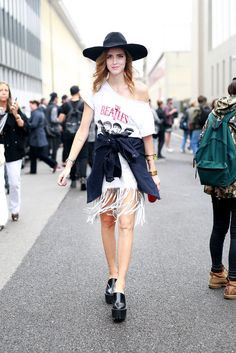 Ciao, Bella! Say Hello to the Best MFW Street Style (Updated!): Fashion Month moves pretty fast — especially if you've been following the street style.