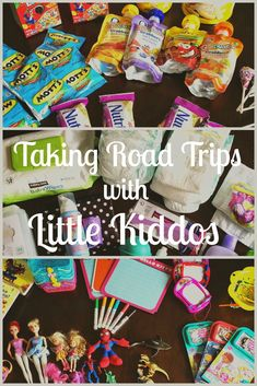 taking road trips with little children tips & tricks. ideas for games, toys and snacks.