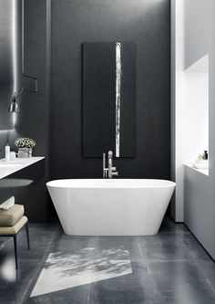 Vetralla Freestanding Bath - deep, double ended and the ultimate luxury.