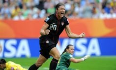 After the equalizer in 123rd minute vs. Brazil, Women's World Cup, July 10, 2011.