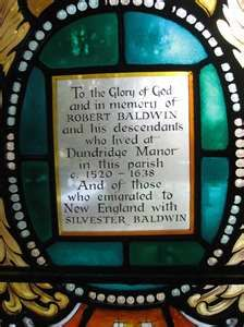 St. Michael and All Angels, Aston Clinton, Buckinghamshire, England....I am one of these descendants, so is Alec Baldwin....