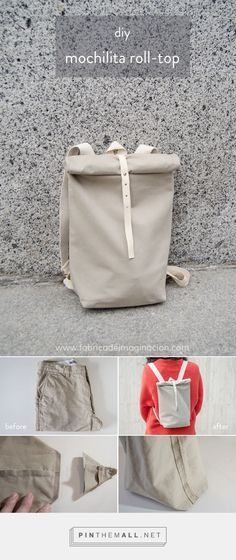 DIY Mochilita roll-top DIY Mochilita roll-top The post DIY Mochilita roll-top appeared first on DIY. Mochila Tutorial, Mochila Jeans, Roll Top, Diy Backpack, Backpack Straps, Small Backpack, Top Backpacks, Backpack Pattern, Backpack Tutorial