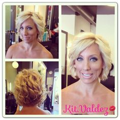 Highlights and toned with an elegant hairstyle for any special occasion