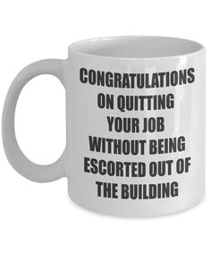 Go Away Gift For Coworker Farewell Co Worker Leave Goodbye Congratulations Colleague Quitting Job Office Mug