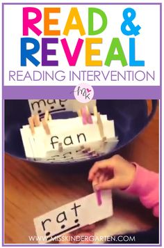 Read and Reveal cards make teaching reading fun! These reading intervention ideas are great for Learning To Read Games, Reading Games For Kids, Reading Skills, Preschool Learning Activities, First Grade Reading Games, Pre Reading Activities, First Grade Phonics, Get Reading, Guided Reading