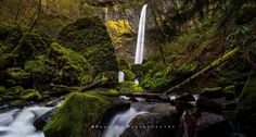 The Elowah - Please click on the photo for a better view.  Elowah Falls, Columbia River Gorge, Oregon