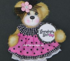 TWAG*DEBBIE*GRANDMA'S BABY GIRL TEAR BEAR PAPER PIECE PREMADE PAGES CARD ALBUM