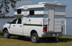 Truck campers are the ultimate Go Anywhere, Camp Anywhere, Tow Anything RV. Forget motorhomes and trailers. Fun, freedom, and adventure await! Slide In Truck Campers, Rv Bus, Pickup Camper, Bus House, Four Wheel Drive, House On Wheels, Motorhome, Recreational Vehicles, Jeep