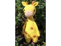 Amigurumi,gehäkelte Giraffe.Häkeltier.Handarbeit.selbstgehäkelte
