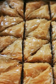 This is my Greece | Baklava a greek dessert made with phyllo pastry,  walnuts, almonds, olive oil and syrup