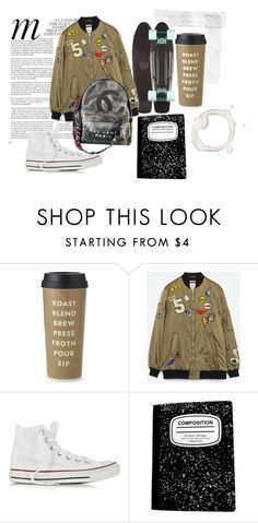 """Spring in College"" by krolikovna ❤ liked on Polyvore featuring Whiteley, Kate Spade, Zara, Chanel and Converse"