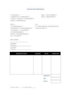 Work Instructions Template Word Beautiful 9 Work