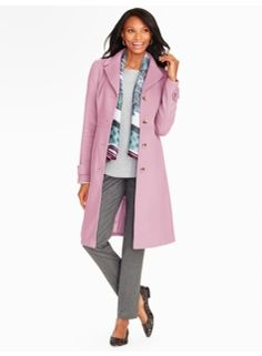 I know its a very classic design. The Color Tone on this Plush Twill Coat Will last forever. Investment Piece for you! By Talbots Fall Winter 2015-16