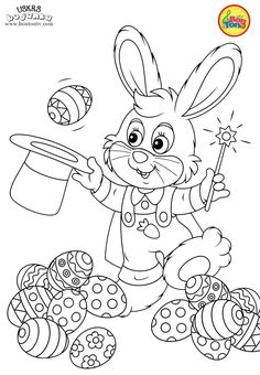 Easter coloring pages - Uskrs bojanke za djecu - Free printables, Easter bunny, eggs, chicks and more on BonTon TV - Coloring books Easter Bunny Colouring, Easter Coloring Pages, Coloring Sheets For Kids, Cute Coloring Pages, Free Printable Coloring Pages, Coloring Books, Free Printables, Christmas Tree Pattern, Easter Pictures